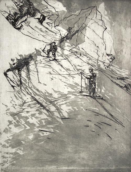 """""""Firn"""", Radierung, 2009"""